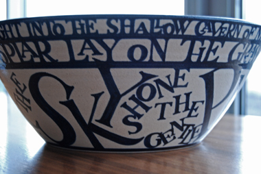 Pleiades (stoneware bowl), text by Valentine Ackland