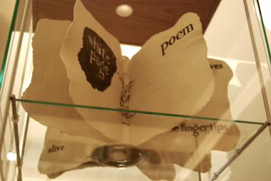 Poem white page white page poem (artist's book in paperclay), text by Muriel Rukeyser