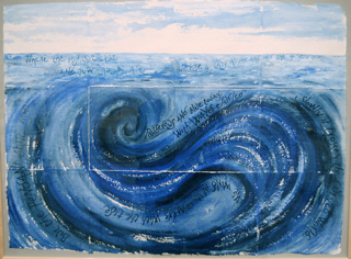 The sea circles slowly (artist's book), text by Anne Ridler
